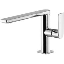 Washbasin mixer tap / chromed metal / bathroom / 1-hole
