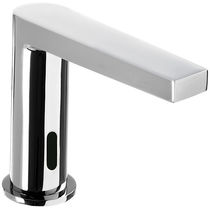 Washbasin mixer tap / chromed metal / electronic / bathroom