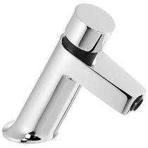 Washbasin mixer tap / chromed metal / self-closing / bathroom