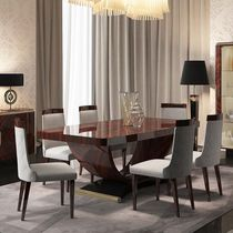 Contemporary dining table / lacquered wood / rectangular