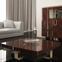 Contemporary coffee table / lacquered wood / rectangular / square