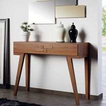Contemporary sideboard table / wooden / rectangular / with drawer