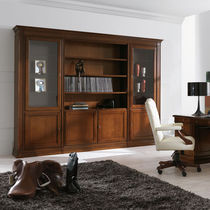 Classic bookcase / for offices / wooden
