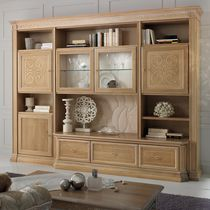 Contemporary living room wall unit / wooden