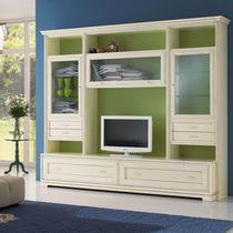 Traditional TV wall unit / lacquered wood