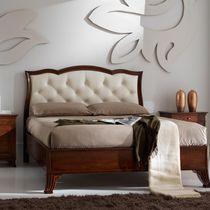 Double bed / traditional / fabric / leather