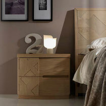 Contemporary bedside table / wooden