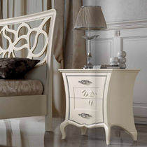 Contemporary bedside table / lacquered wood