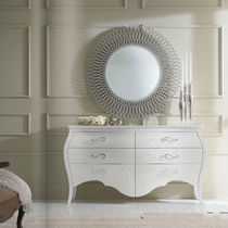 Classic chest of drawers / wooden / lacquered wood / silver