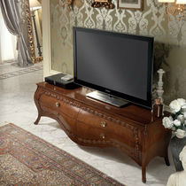 Traditional TV cabinet / wooden / lacquered wood