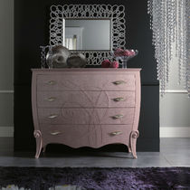 Contemporary chest of drawers / wooden / lacquered wood / pink