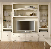 Classic television cabinet / wooden / lacquered wood