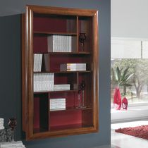 Wall-mounted bookcase / traditional / wooden / glass-front