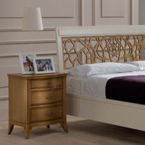 Traditional bedside table / lacquered wood / with drawer