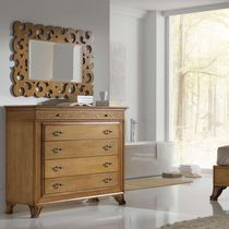 Traditional chest of drawers / wooden / lacquered wood / brown