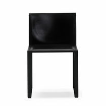 Contemporary chair / leather