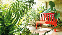 Garden bench / traditional / with backrest / by Paolo Rizzatto
