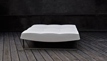 Contemporary ottoman / metal / low-density polyethylene LDPE / indoor