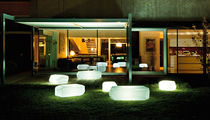 Contemporary pouf / low-density polyethylene LDPE / illuminated / for reception areas