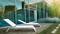 Contemporary lounge chair / aluminum / Batyline® / garden