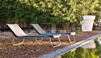 Contemporary sun lounger / steel / polyethylene / reclining