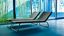 Contemporary lounge chair / polyethylene / steel / outdoor