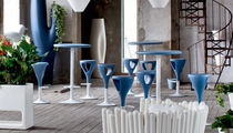 High bar table / round / garden / contemporary