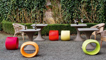 Contemporary stool / polyethylene / garden / green