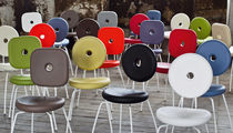 Contemporary garden chair / 100% recyclable / low-density polyethylene (LDPE) / steel