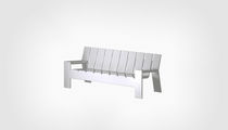 Contemporary sofa / garden / wood / 3-seater