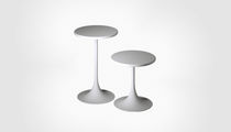 Contemporary table / plywood / round / garden