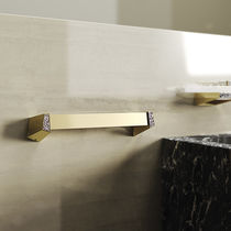 1-bar towel rack / wall-mounted / brass / Swarovski® crystal