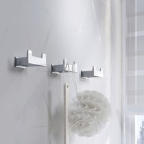 Contemporary coat hook / metal / double / bathroom