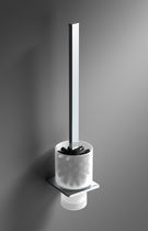 Glass toilet brush / metal / wall-mounted