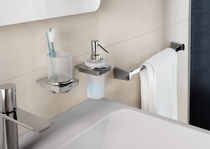 Professional soap dispenser / wall-mounted / metal / manual