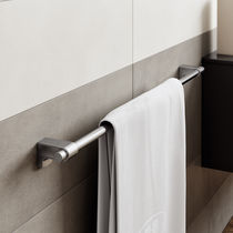 1-bar towel rack / wall-mounted / brass
