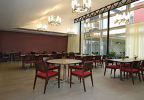 Contemporary table / HPL / round / for restaurants