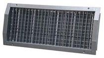 Steel ventilation grill / stainless steel / rectangular / adjustable
