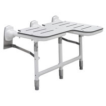 Folding shower seat / galvanized / steel / wall-mounted