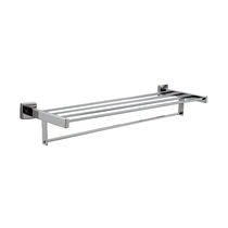 More than 3 bars towel rack / wall-mounted / stainless steel / for hotels