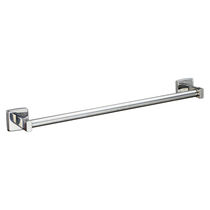 1-bar towel rack / wall-mounted / stainless steel / for hotels