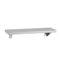 Wall-mounted shelf / contemporary / stainless steel / commercial
