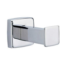 Contemporary robe hook / stainless steel / single / bathroom