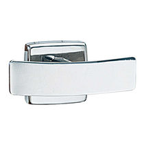 Contemporary coat hook / stainless steel / double / for hotels