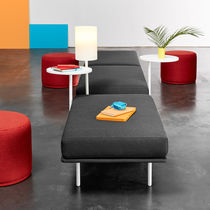 Contemporary side table / wooden / round / commercial