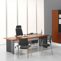 Executive desk / wooden / metal / glass
