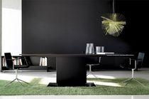 Contemporary boardroom table / wooden / rectangular / modular