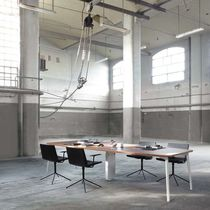 Contemporary boardroom table / laminate / rectangular / with integrated electrical outlet