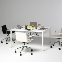 Contemporary boardroom table / laminate / rectangular / adjustable-height