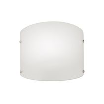 Contemporary wall light / glass / halogen / curved